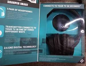 Bulk Lot - 20 Pairs - Sharper Image OwnZone Wireless TV Headphones