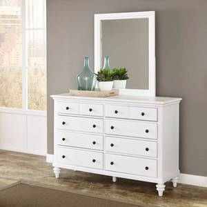 Bermuda Brushed White Dresser and Mirror by Home Styles