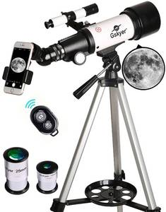 Gskyer Telescope, Travel Scope, 70mm Aperture 400mm Az Mount Astronomical Refractor For