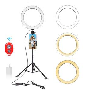 Emart 10-inch Selfie Ring Light with Adjustable Tripod Stand & Cell Phone Holder
