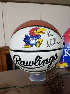 Signed Basketball Roy Williams