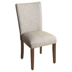 Parsons Chair with Espresso Leg, Tweed - HomePop