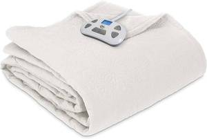 Perfect Fit Quilted All-Season Warming Blanket, Ivory - King