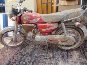 RCM 50 GL Motorcycle - in as found condition - untested - tires flat