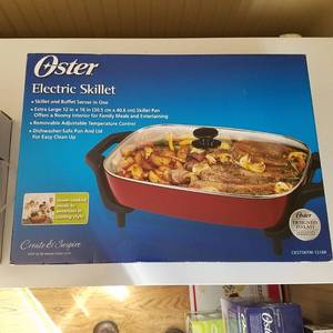 Oster CKSTSKFM-1216R 12-Inch by 16-Inch Electric Skillet, Red