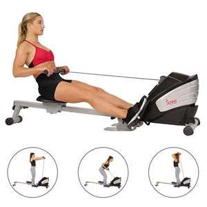 Sunny Health Fitness Dual Function Rowing Machine