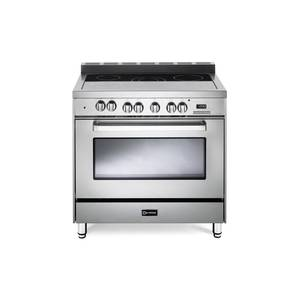 "Verona VEFSEE365SS 36"" Electric Range with 4 cu. ft. European Convection Oven Black Ceramic Glass Cooktop 5"