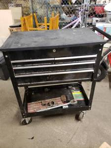 US General 4 Drawer Rolling Tool Cart with Contents