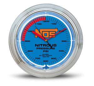 NOS NEON CLOCK by HOLLEY