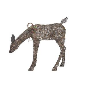 Home Accents Holiday 38 in. Christmas Warm White LED Brown PVC Animated Doe