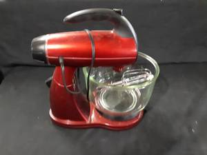 Red Sunbeam Stand Mixer w/ Attachments