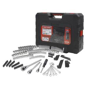 Craftsman 230 Pc Silver Finish Standard And Metric Mechanic's Tool Set 50230