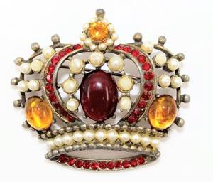 Weiss Crown Brooch Pin