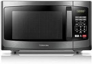 Toshiba Em925a5a-bs Microwave Oven With Sound On/off Eco Mode And Led Lighting