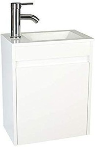 "eclife Bathroom Vanity W/Sink Combo 16"" for Small Space MDF Paint Modern"