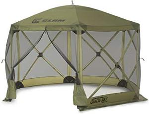 "Clam Quick Set Escape Screen Shelter 140"" x 140"" Green"