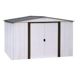 "Arrow Ace1010 70.88"" x 10' x 10' Galvenized Steel Storage Shed"