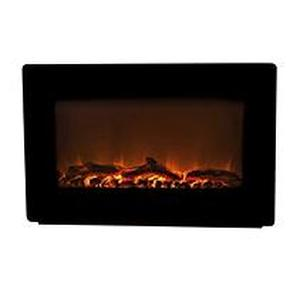 Fire Sense - Wall-Mounted Electric Fireplace - Black