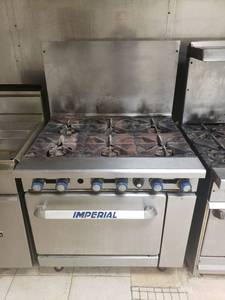 Imperial Gas 6 burner range with oven