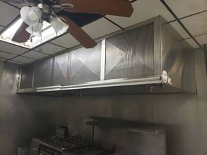 12' stainless steel hood with Ansul system