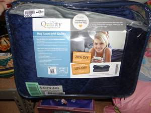 "Quility Premium Kids & Adult Weighted Blanket & Removable Cover | 12 lbs | 60""x80"""