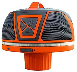 Wow World of Watersports Wow-Sound Speaker, Bluetooth, Waterproof, Shockproof, Floating Speaker, with Long Battery Life, LED Lights, and Cup Holder