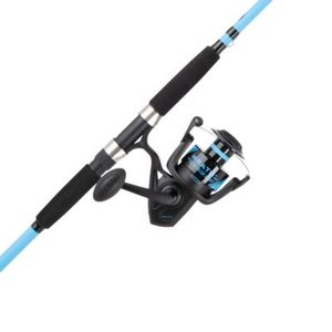 PENN Wrath Spinning Reel and Fishing Rod Combo, Black/Blue