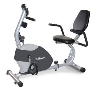 Velocity Exercise Gray Recumbent Exercise Bike
