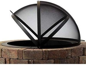 Hampton's Buzaar 40 Inch Round Fire Pit Spark Screen