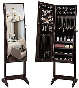Songmics Jewelry Cabinet with Mirror