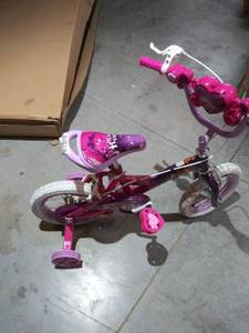"Huffy 12"" Disney Princess Girls Bike with Training Wheels, Pink/Purple"