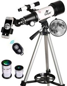 Telescope, Travel Scope, 70mm Aperture 400mm Az Mount Astronomical Refractor For