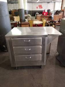 SS Warming Drawer Cabinet w/ attached Shelf