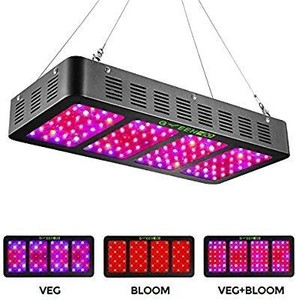 1200w LED Grow Light with Veg&Bloom Switch,GREENGO 3 Chips LED Plant Grow Lamp Full Spectrum