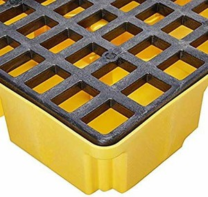 Eagle 1632D Yellow 2 Drum Modular Platform with Drain