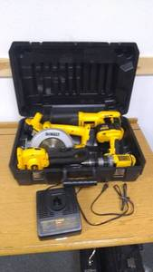 Complete DeWalt Tool Set with Drill, Light, Linear Saw, Circular Saw, 3 18V Batteries, and Fast Charger