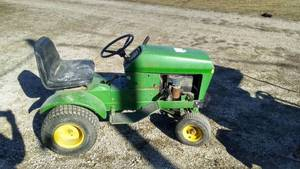 John Deere riding lawn tractor