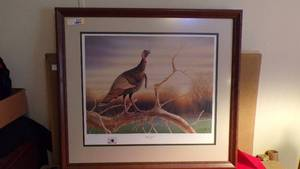 Numbered and Hand Signed Turkey Picture