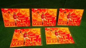 5 - Patrick Mahomes 2017 NFL Draft Round 1 Pick 10 Rookie Cards - Latest MVP Superbowl Champs