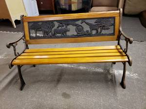 Awesome Kids Metal/Wood Bench
