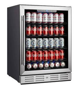 Kalamera Beverage Cooler and Fridge - Fit Perfectly into 24 inch Space Under Counter or Freestanding - 175 Cans Capacity - for Soda, Water, Beer or Wine