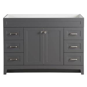 Thornbriar 48 in. W x 21 in. D Bathroom Vanity Cabinet in Cement Comes With Top