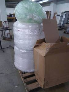 Rolls of bubble wrap