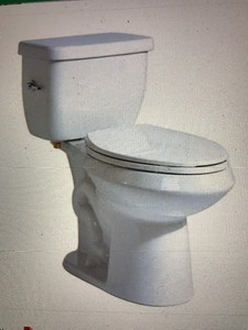 Ceramic Toilet does not come with toilet seat picture is just a manufactures picture new in box