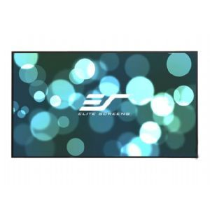 Elite Screens Aeon Series, 180-inch 16:9, 8K / 4K Ultra HD Home Theater Fixed Frame EDGE FREE Borderless Projector Screen, CineWhite Matte White Front Projection Screen, AR180WH2