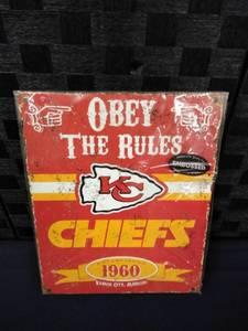 Kansas City Chiefs Metal Sign