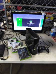 XBOX 360 System with Controller and Games