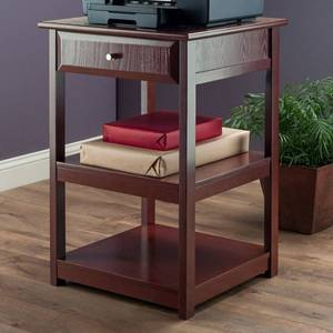"30.71"" Delta Printer Stand Walnut - Winsome, Brown"
