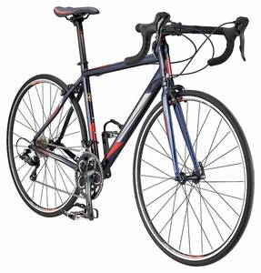 Schwinn Fastback 2 Performance Road Bike for Beginner to Intermediate Riders, Featuring 53cm/Medium Large Aluminum Frame, Carbon Fiber Fork, Shimano Sora 18-Speed Drivetrain, 700c Wheels, Navy Blue