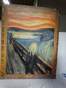 "Van Gogh ""The Scream"" Print on Canvas 45""x35"""